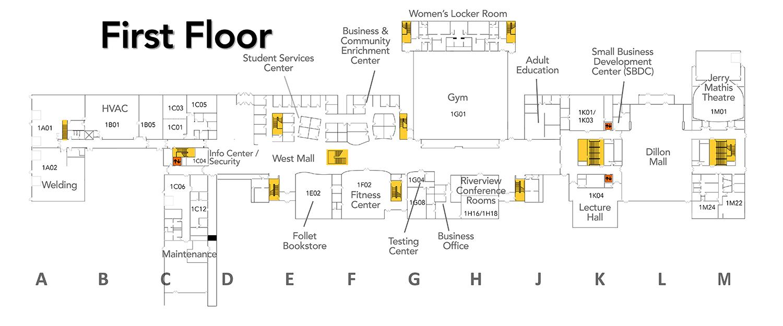 de7fea505b5f71 SVCC Campus Map  Campus Map - Floor 1 - Sauk Valley Community College