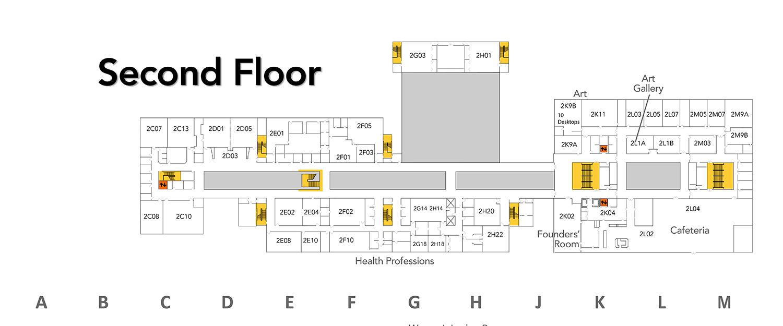 256115cee63324 SVCC Campus Map  Campus Map - Floor 2 - Sauk Valley Community College