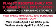 Register for Summer & Fall Classes