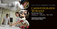 Career Exploration Workshop May 1
