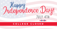 Offices Closed July 4 in Independence Day