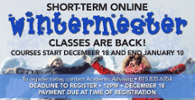 Wintermester Classes begin December 18
