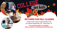College For Kids Fall Courses